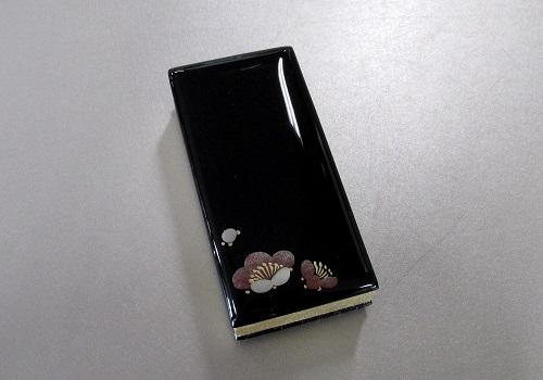◆蒔絵入 鳥の子過去帳 3.5寸 梅 日付入