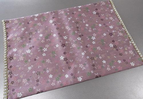 ◆防炎加工 経机掛・経机敷 22号 中京型 美桜 ピンク
