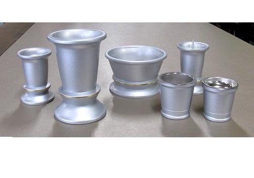 ◆仏具6具足セット エシキ 3.5寸 シルバー