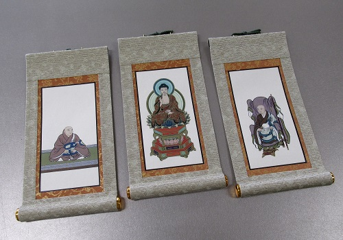 ●仏壇用掛軸 彩美 ヘリ折り 豆代 妙心寺派 三幅