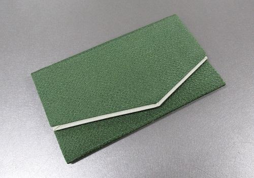 □念珠袋・数珠袋 二重ちりめん 緑
