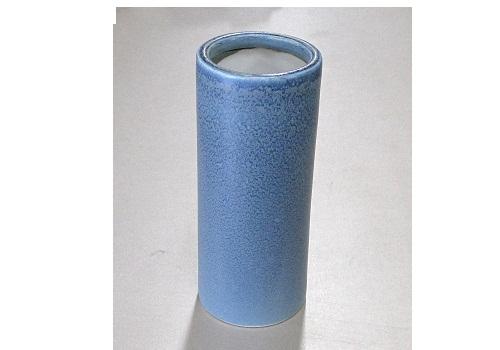 ●花瓶 青油滴投入 7.0寸 一対(2本)