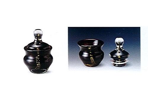 ◇ミニ骨壺 手元供養 手造り吹きガラス はるか