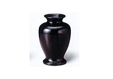 ◇黒無地 夏目花瓶 4.0寸 一対(2本入)