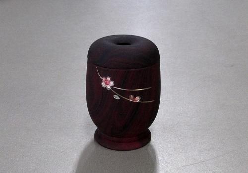 ●マッチ消し 上ダルマ型 桜彫金 3.0寸 紫檀色