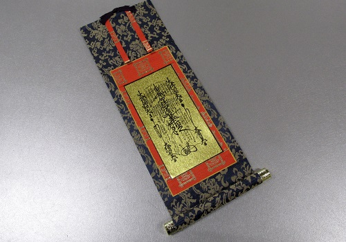 ●仏壇用掛軸 オリジナル唐華 30代 日蓮宗 本尊のみ