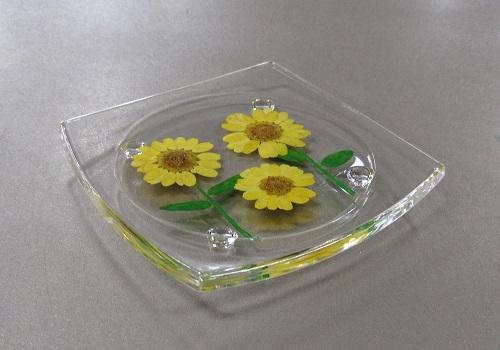 ○押し花シリーズ 押し花の供物台 ひまわり