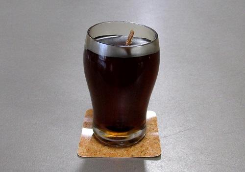 ■アイスコーヒーキャンドル 故人の好物ローソク 【カメヤマ】