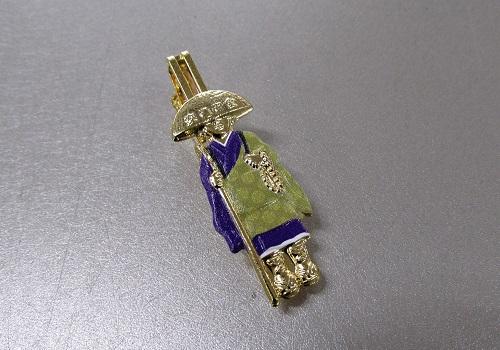 ☆輪袈裟・わげさ止め カラー大師 特製柄入 紫