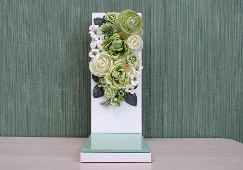 ●手元供養壇 位牌台 フラワーグリーン