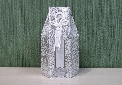 ●六角骨覆 骨袋六角 2.0寸用 新箔 銀 分骨袋