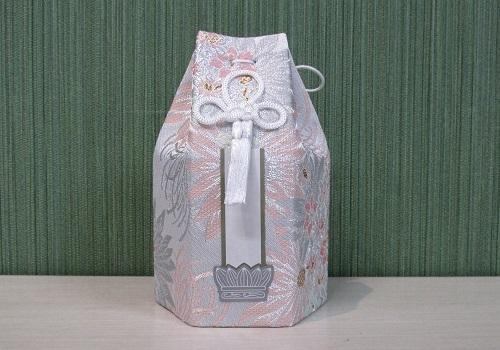 ●六角骨覆 骨袋六角 2.5寸用 花づくし 乱菊 分骨袋