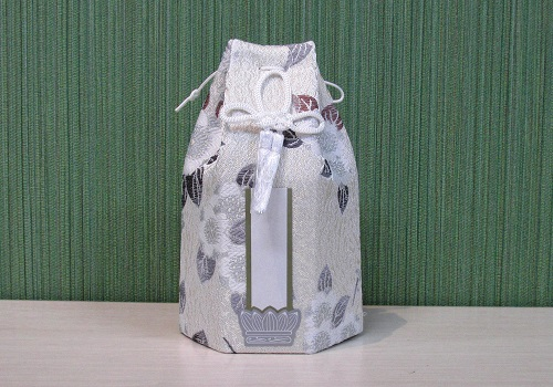 ●六角骨覆 骨袋六角 2.0寸用 花づくし 梅花紋 分骨袋