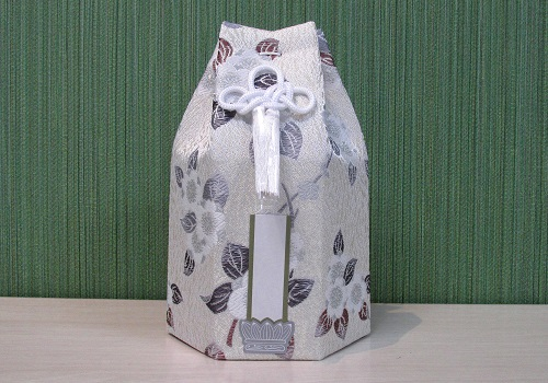 ●六角骨覆 骨袋六角 3.0寸用 花づくし 梅花紋 分骨袋