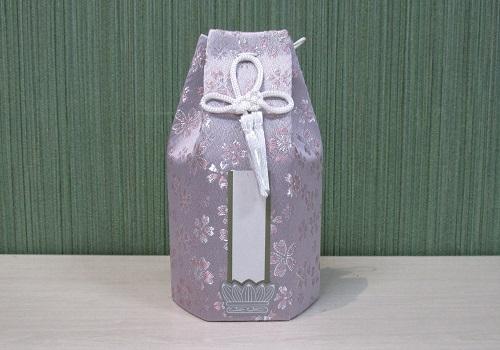 ◇六角骨覆 骨袋六角 3.0寸用 かのん パープル 分骨袋