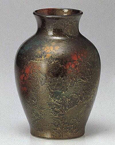●美濃焼花瓶 吹錦雲母尺0花瓶