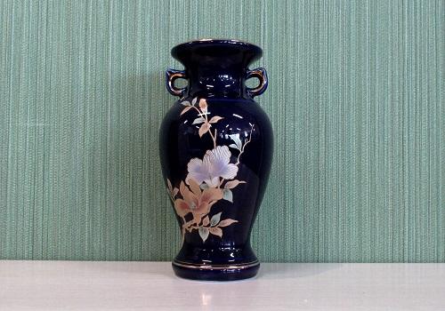 ●花瓶・サギ型花立 ルリ木蓮サギ 6.0寸×1対(2本入)