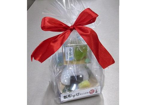 ■おむすび・お茶キャンドルセット 故人の好物 【カメヤマ】