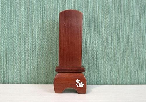 ●本欅象嵌位牌 和心 4.0寸 純国産 舞桜