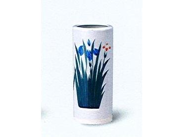 ◇花瓶 美濃焼あやめ投入 7.0寸