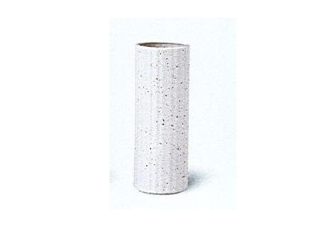 ◇陶器製花瓶 白唐津たて筋投入 8.0寸