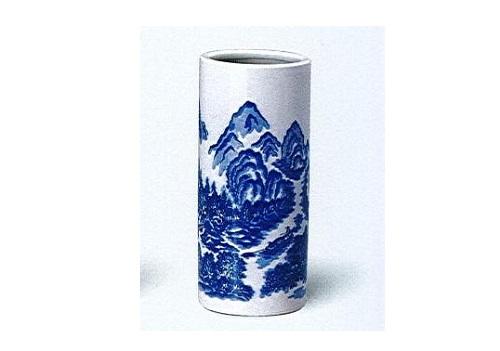◇花瓶 白山水投入 尺0