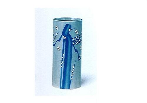 ◇花瓶 青磁白梅投入 尺0 ※廃番商品の為在庫限り