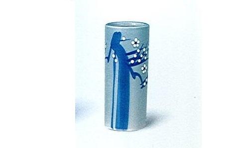 ◇花瓶 青磁白梅投入 7.0寸