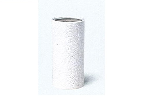 △花瓶 白唐草投入 8.0寸×1ケース(16本入)