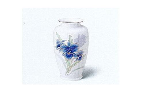 ◇美濃焼花瓶 青カトレア2号