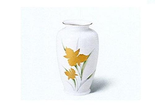 ◇美濃焼花瓶 金カトレア2号