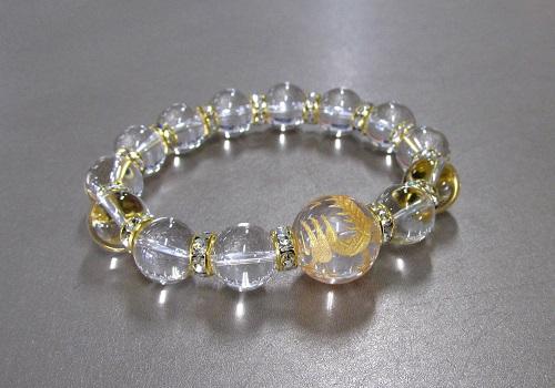 ■昇龍ブレス 龍彫水晶・水晶ブレス