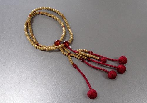 ●法華用本連8寸 柘 瑪瑙仕立 かがり梵天 日蓮宗108珠