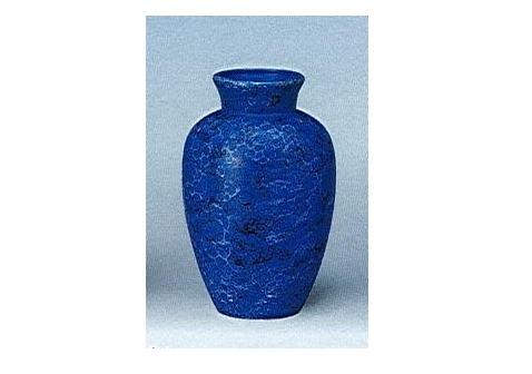 △花瓶・花立 大理石調夏目花瓶 7.0寸 ブルー×一対(2本)入