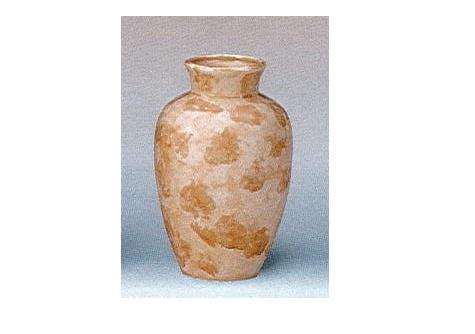 △花瓶・花立 大理石調夏目花瓶 7.0寸 ベージュ×1対(2ヶ)