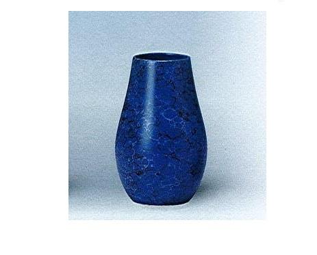 △花瓶・花立 大理石調下太花瓶 8.0寸 ブルー×一対(2本)入