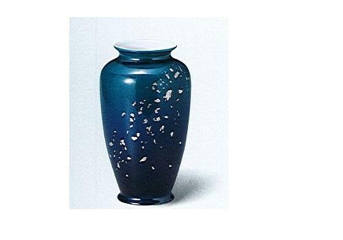 ◇九谷焼花瓶 九谷8号カメ型 深海