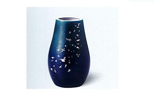 ◇九谷焼花瓶 九谷7号下太 深海