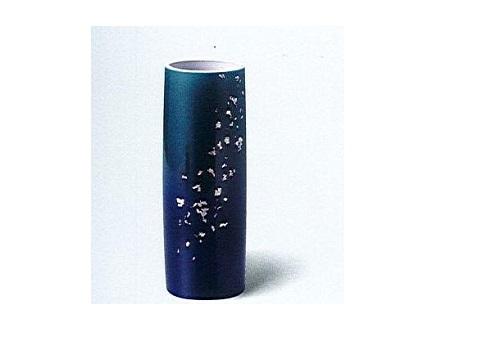 ◇九谷焼花瓶 九谷8号寸胴 深海