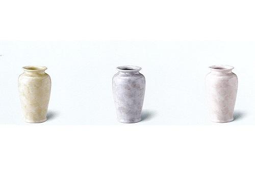 △花瓶・花立 大理石調6号カメ型花瓶×1対(2ヶ)