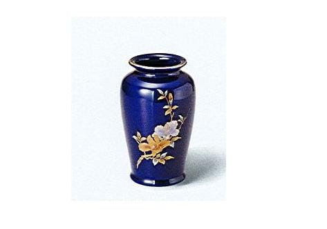 ◇花瓶・花立 美濃焼花瓶 6号ルリカメ型木蓮