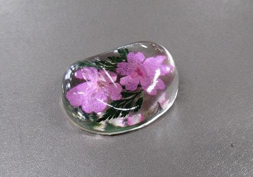 ○押し花シリーズ 押し花のリン棒台 バーベナ