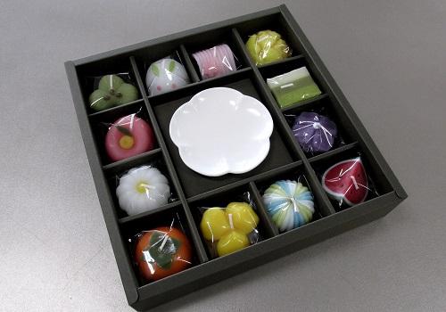 ■和菓子づくし ギフトセット 故人の好物ローソク 【カメヤマ】