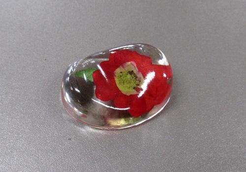 ○押し花シリーズ 押し花のリン棒台 バラ