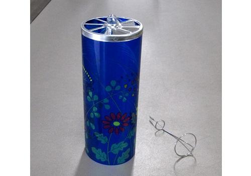 ■提灯用部品 回転筒 花柄 ホルダー付 大 1個
