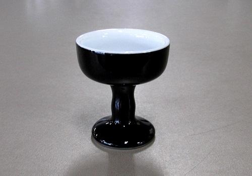 △仏飯器・仏器 黒無地 大×1ケース(25ヶ入)