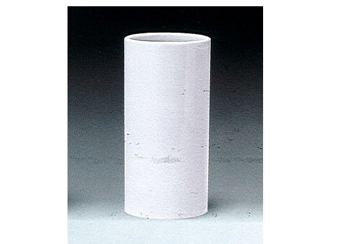 ◇花瓶 白無地投入 尺1×1対(2本)