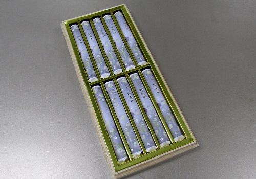 ■煙の少ないお線香 沈香・好文木 短寸10把入桐箱