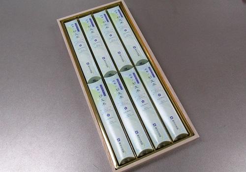 ■煙の少ないお線香 微香好文木 短寸8箱入桐箱 【梅栄堂】