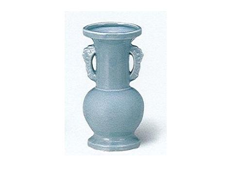△花瓶・花立 青磁無地並仏花 大×1ケース(10ヶ入)
